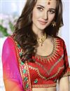photo of Red Embellished Designer Saree In Georgette With Fancy Heavy Blouse