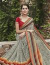 photo of Cream Color Designer Party Wear Georgette Fabric Saree