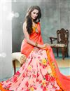 photo of Pink Color Fancy Print Party Wear Saree In Georgette Fabric