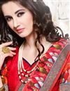 photo of Pink And Red Color Party Wear Georgette Fabric Saree With Border