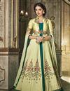 image of Art Silk Wedding Wear Embroidered Designer Anarkali Suit In Beige