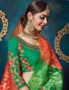 photo of Wedding Special Sangeet Ceremony Wear Red Color Silk And Jacquard Fabric Fancy Lehenga Choli