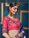 photo of Wedding Special Fancy Wedding Wear Designer Embroidered Pink Color Silk And Jacquard Fabric Lehenga