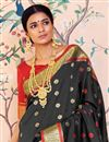 photo of Sangeet Function Wear Art Silk Designer Black Weaving Work Saree