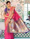 photo of Art Silk Sangeet Function Wear Designer Weaving Work Saree In Pink