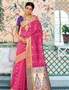 image of Art Silk Sangeet Function Wear Designer Weaving Work Saree In Pink