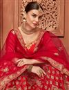 photo of Embellished Wedding Wear Satin Silk Fabric Fancy Lehenga