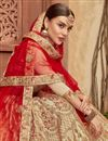 photo of Embroidered Wedding Wear Fancy Satin Silk Fabric Lehenga