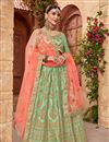 image of Embellished Function Wear Fancy Lehenga Choli In Satin Silk Fabric