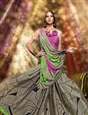 photo of Fancy Print Beige Color Casual Saree In Crepe Fabric