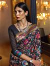 photo of Art Silk Fabric Black Color Designer Saree