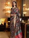 image of Art Silk Fabric Black Color Designer Saree