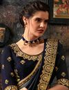 photo of Art Silk Fabric Black Color Wedding Wear Saree With Embroidery Work And Gorgeous Blouse
