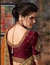 photo of Embroidery Work On Reception Wear Saree In Coffee Art Silk Fabric With Charming Blouse