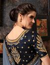 photo of Embroidery Work On Art Silk Fabric Designer Saree In Grey Color With Admirable Blouse
