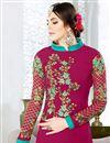 photo of Enlivening Dark Pink Color Georgette Fabric Designer Suit