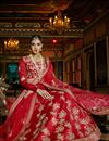 photo of Wedding Bridal Silk Fabric Lehenga in Red Color with Designer Silk Choli