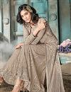 photo of Cream Designer Embroidered Palazzo Suit In Net Fabric