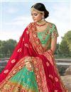 photo of Banarasi Fabric Embellished Cyan Function Wear Lehenga With Fancy Dupatta