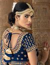 photo of Navy Blue Fancy Function Wear Lehenga In Banarasi Fabric With Heavy Dupatta
