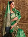 photo of Designer Green Function Wear Fancy Weaving Work Saree In Art Silk