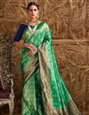 image of Designer Green Function Wear Fancy Weaving Work Saree In Art Silk
