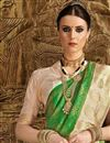 photo of Sangeet Function Wear Art Silk Fancy Green Designer Saree With Weaving Work