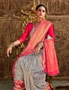 photo of Grey Designer Party Style Art Silk Fancy Weaving Work Saree