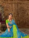 photo of Designer Sky Blue Weaving Work Party Style Fancy Saree In Art Silk