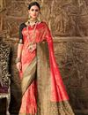 image of Designer Art Silk Function Wear Fancy Weaving Work Saree In Red