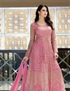 image of Function Wear Embellished Sharara Top Lehenga Choli In Net