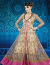 image of Cream Net Long Length Anarkali Salwar Suit