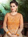 photo of Alluring Orange-Beige Color Santoon Lehenga
