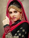 photo of Black Color Designer Salwar Kameez With Embroidery In Georgette Fabric
