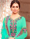 photo of Pakistani Style Designer Sea Green Color Georgette  Salwar Suit With Embroidery