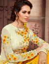 photo of Designer Georgette Festive Wear Pakistani Style Yellow Color Suit