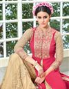 photo of Pink Color Georgette Palazzo Suit