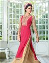 picture of Pink Color Georgette Palazzo Suit