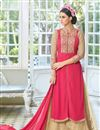 image of Pink Color Georgette Palazzo Suit