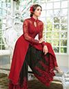 picture of Classic Red Color Designer Palazzo Suit