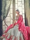 photo of Wedding Function Wear Grey Banarasi Silk Designer Lehenga