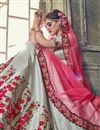 picture of Wedding Function Wear Grey Banarasi Silk Designer Lehenga