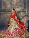 photo of Embroidered Designer Wedding Wear Multi Lehenga