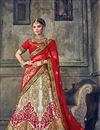image of Embroidered Designer Wedding Wear Multi Lehenga