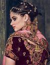 photo of Wedding Special Embroidered Designer Wedding Wear Purple Lehenga