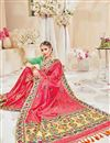 photo of Designer Wedding Wear Fancy Pink Color Silk Fabric Embroidered Saree With Heavy Blouse