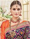 photo of Wedding Function Wear Navy Blue Color Silk Fabric Designer Embellished Saree With Fancy Blouse