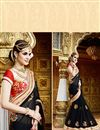 photo of Beautifully Embroidered Black Color Classy Designer Saree In Georgette Fabric
