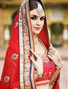 photo of Designer Party Wear Stylish Red Color Saree In Georgette Fabric