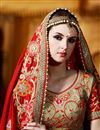 photo of Classy Red Color Party Wear Satin And Georgette Saree With Embroidery Work